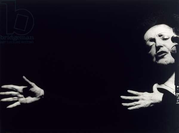 Untitled (Edith Piaf performing), c.1960 (gelatin silver print)
