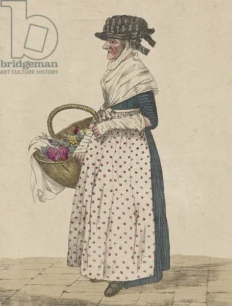 Mother Goose of Oxford, 1807 (colour litho)