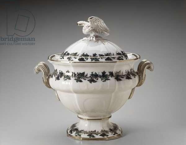 Soup Tureen, c. 1853 (lead-glazed earthenware)