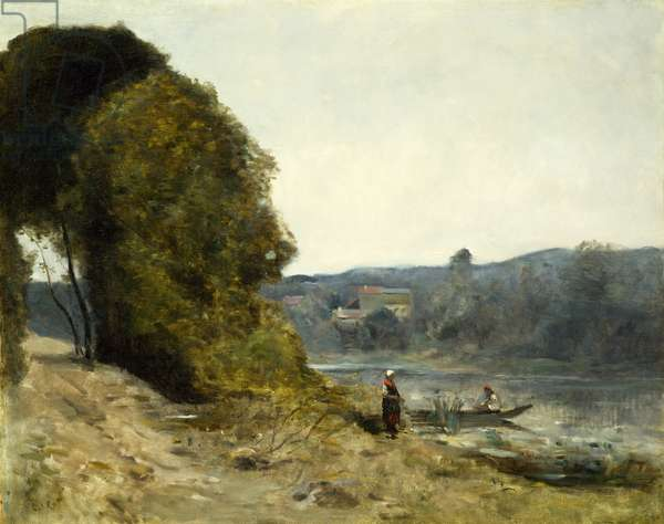 The Departure of the Boatman, 1870-72 (oil on canvas)