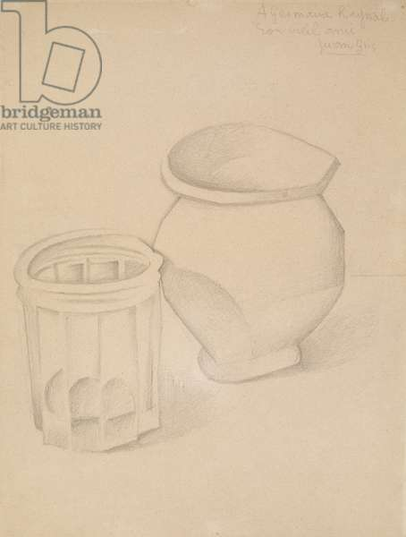 Glass and Vase, c.1911 (graphite on wove paper)