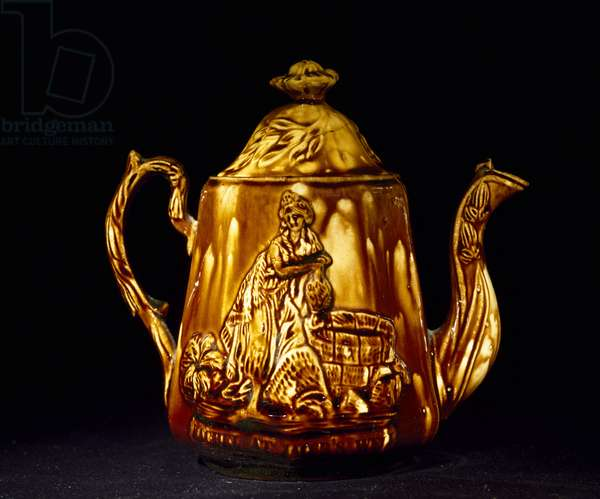 Teapot, c. 1850-1852 (rockingham-glazed earthenware)