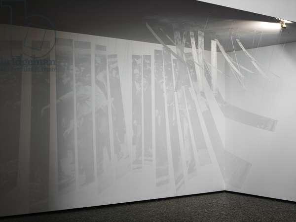 Untitled, 2001-02 (silkscreen on 17 individual sheets of plexiglas; lightsource)