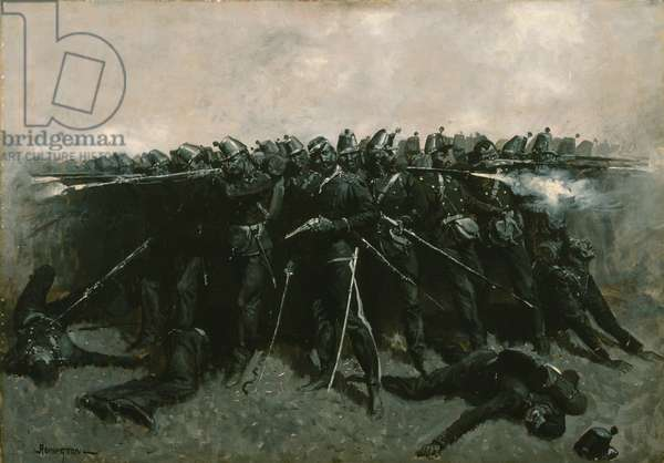 The Infantry Square, c.1893 (oil on canvas)