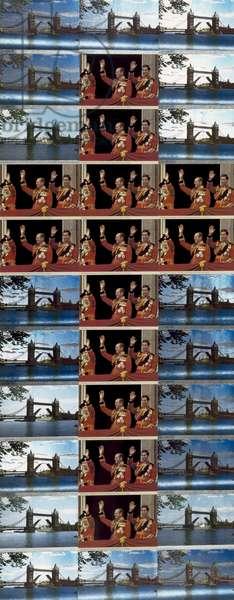 Royal Waving, 1981 (offset print collage)