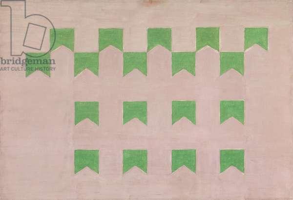 Bandeiras verdes sobre rosa, c.1957 (tempera on canvas)