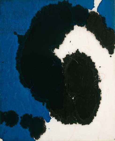 Lyric Suite, 1965 (black & peacock blue ink on rice paper)