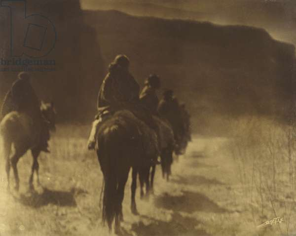 The Vanishing Race — Navaho  Plate 1, Volume 1 from the series The North American Indian, c. 1904 (orotone)