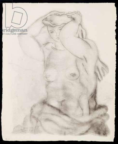 """""""Nu aux bras leves"""", published 1957 (print)"""