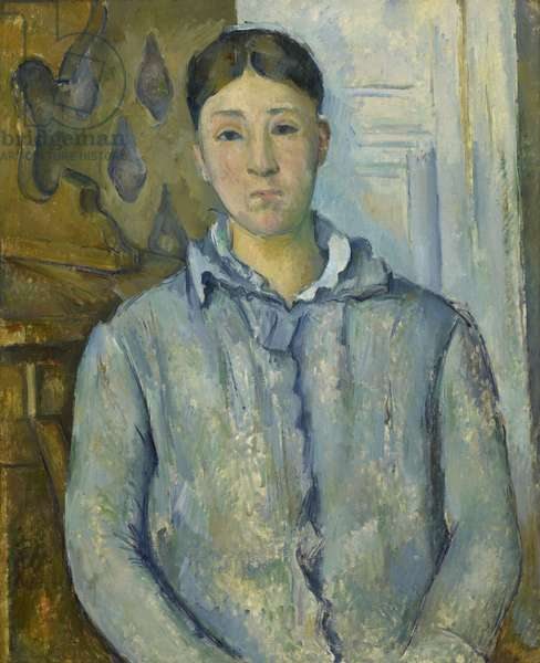Madame Cezanne in Blue, 1888-90 (oil on canvas)