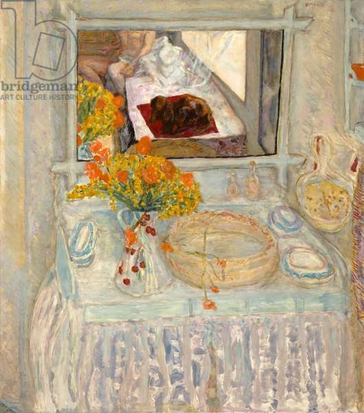 Dressing Table with Mirror, c.1913 (oil on canvas)