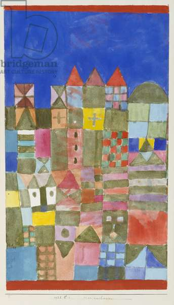 Mariam's House, 1928 (no 54) (w/c on paper on cardboard)