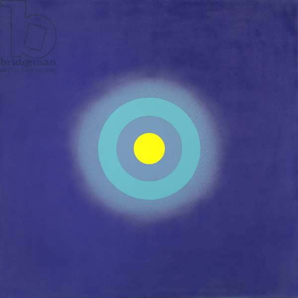Luna in Blue from the series Mysteries, 2000 (acrylic on canvas)