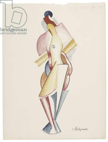 Women VIII, c. 1921-1923 (watercolour and graphite on paper)