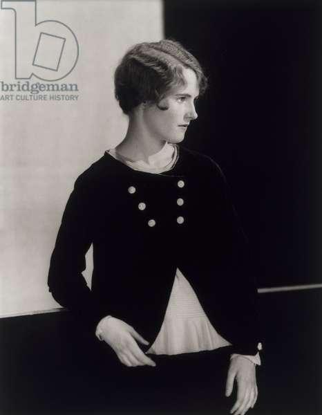 Lois Moran, 1927 (gelatin silver print with toning)