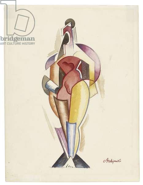 Women II, c. 1921-1923 (watercolour, graphite, and pencil on paper)