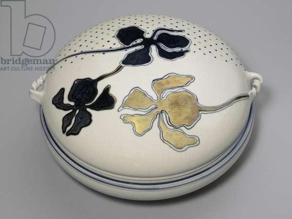 Casserole with Iris, c.1977 (porcelain)