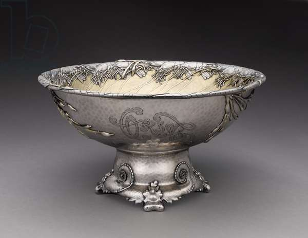 Punch Bowl, Tiffany and Company, 1884 (sterling silver with gilt)