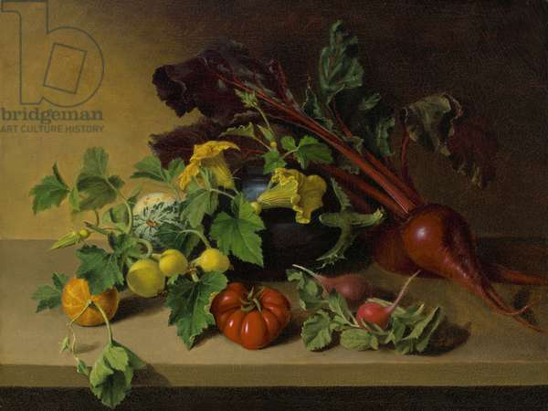 Still life with Vegetables, 1826 (oil on canvas)