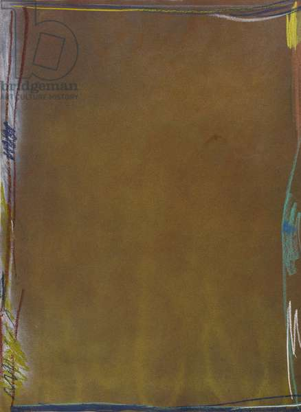 Key of Acco #4, 1981 (acrylic & pastel on paper)