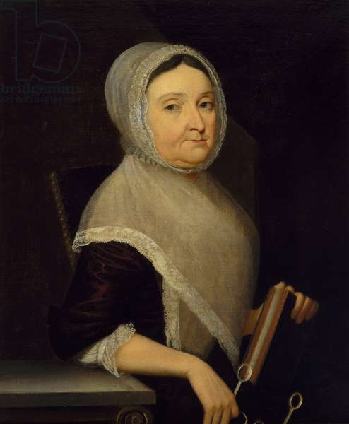 Portrait of Mrs. Mary Cuthbert, c.1770-75 (oil on canvas)
