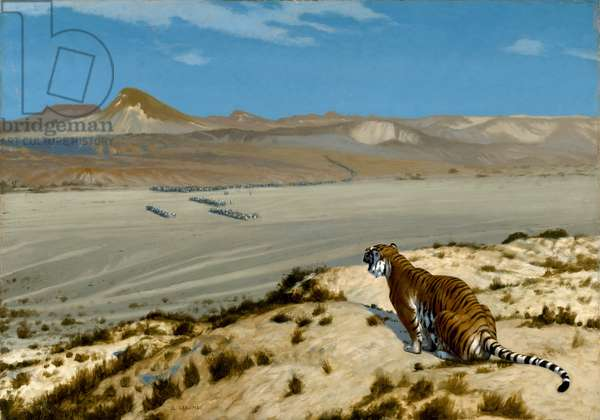 Tiger on the Watch, c.1888 (oil on canvas)