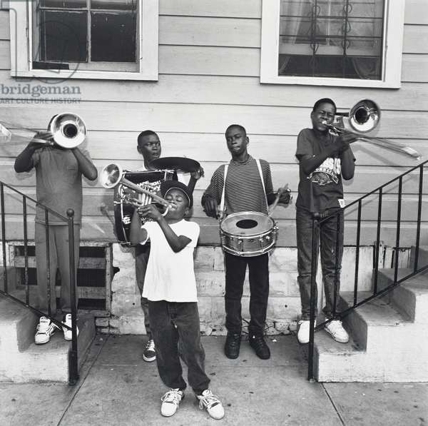 Jazz Greats of the Future, New Orleans, LA, 1990 (gelatin silver print)