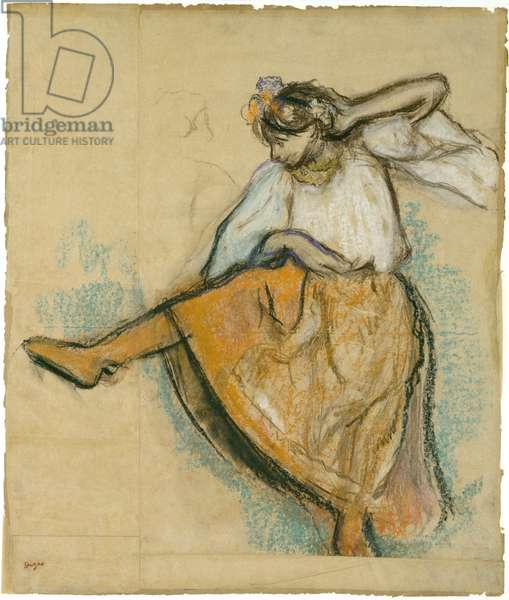 The Russian Dancer, c.1895 (pastel and charcoal on joined paper laid on board)