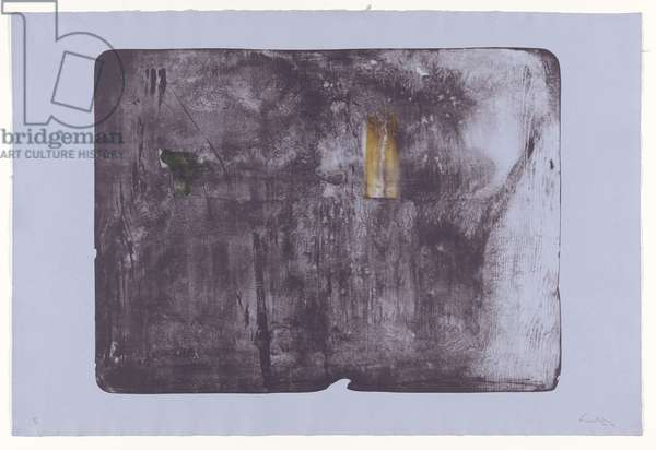 Door, 1976-79 (colour litho on handmade blue wove paper)