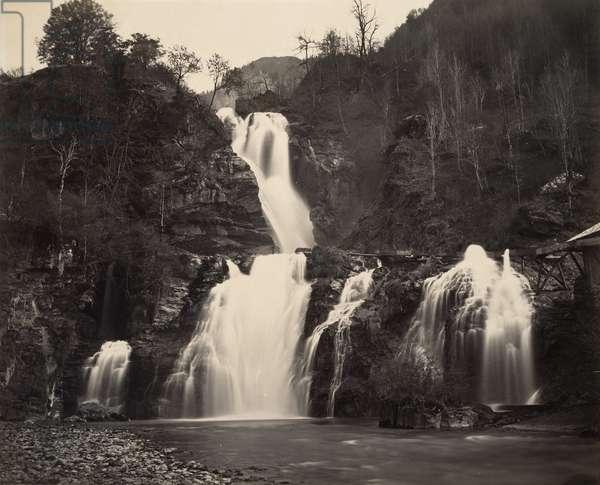 Falls of the Reichenbach, c.1860 (albumen print)