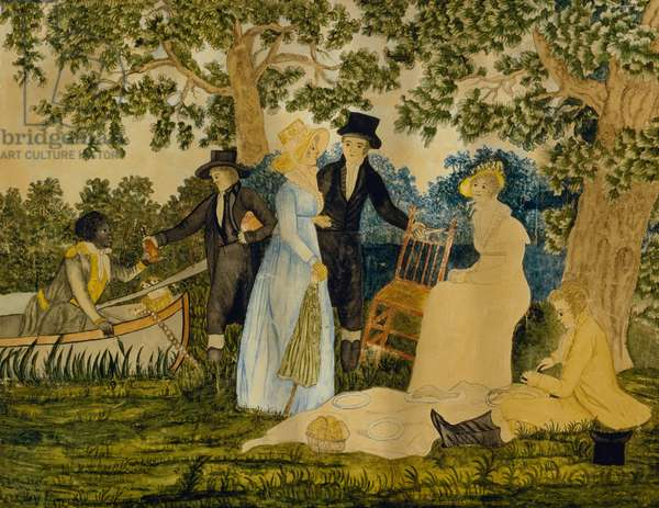 Fishing Party, c. 1815 (watercolour on wove paper)