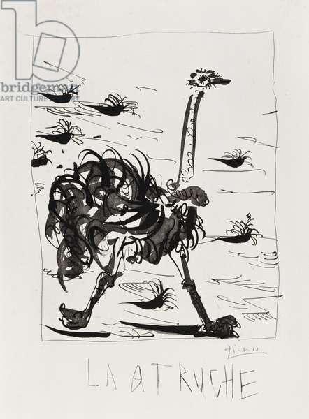 L'Autruche, 1936 (aquatint & etching)