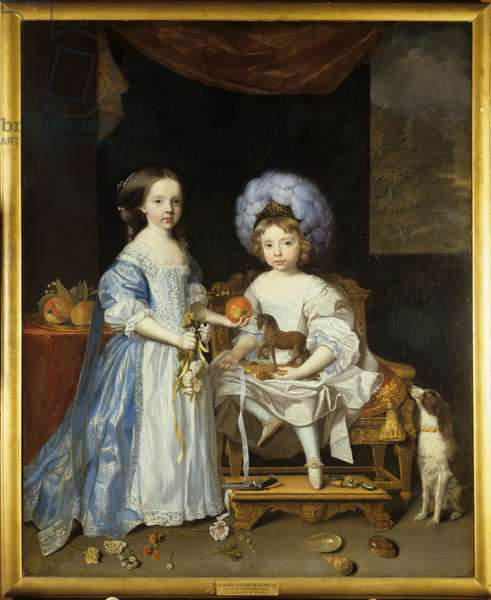 James Cecil and his sister, Lady Catherine, c.1668 (oil on canvas)