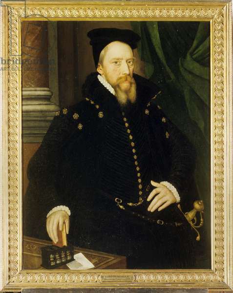 William Cecil, 1st Baron Burghley, c.1565 (oil on panel)