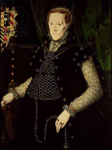 Mildred, Lady Burghley, c.1563 (oil on panel)