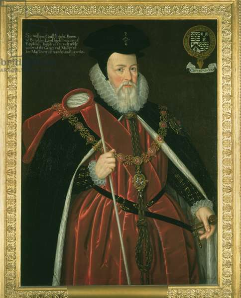 William Cecil, 1st Baron Burghley, c.1590 (oil on canvas)