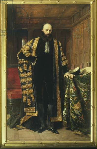 Robert Gascoyne Cecil, 3rd Marquess of Salisbury, 1872 (oil on canvas)