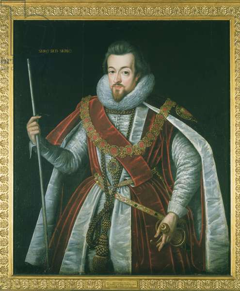 Robert Cecil, 1st Earl of Salisbury (oil on canvas board)