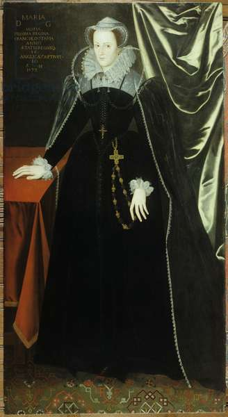 Mary, Queen of Scots (oil on panel)