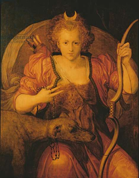 Elizabeth I as Diana the Huntress, c.1560 (oil on canvas)