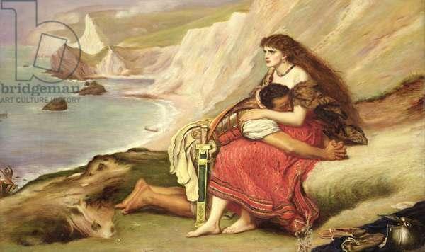 Ancient Briton (oil on panel)