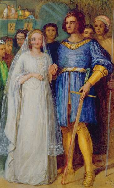The Knight's Bridal (oil on canvas)
