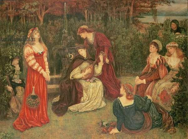 Fiammetta Singing, 1879 (oil on canvas)