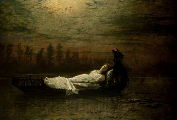 The Lady of Shalott, 1878 (oil on canvas)