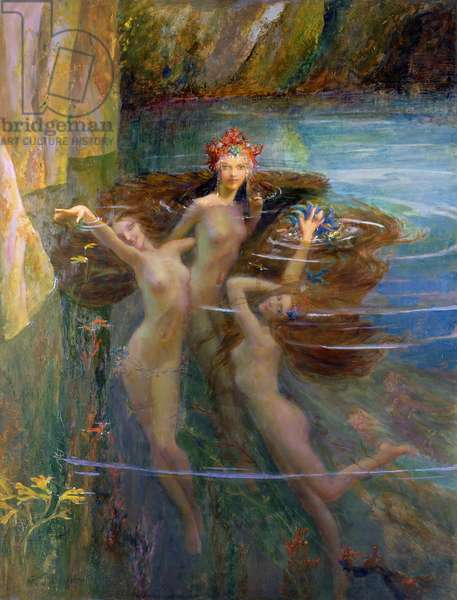 Water Nymphs, 1927 (oil on canvas)