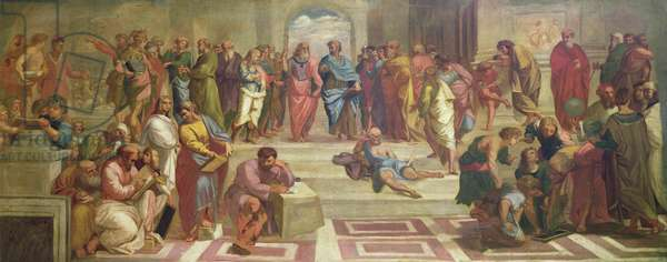 The School of Athens, after Raphael (oil on canvas) (see 472 for original)