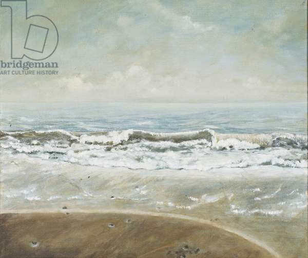 Wave on Barton Beach, 2005 (oil on canvas)