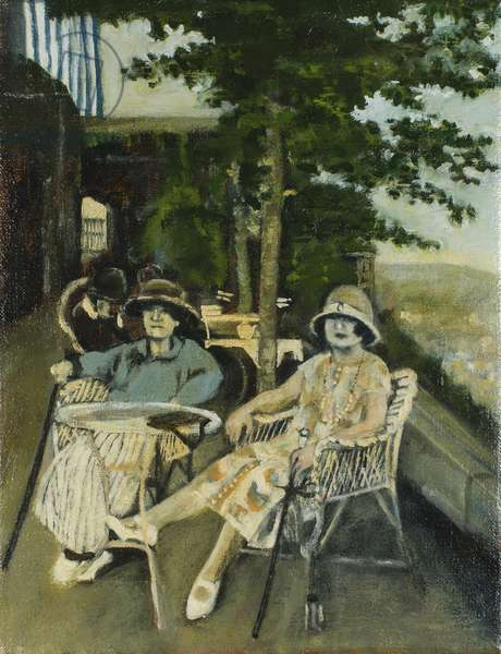 On the Terrace, 2006 (oil on canvas)