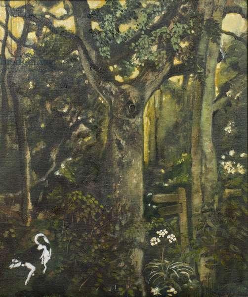 Crossways, 2001 (oil on canvas)
