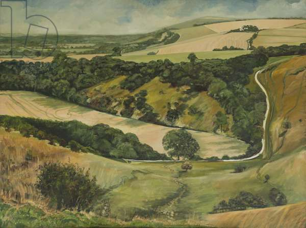 Jack and Jill from Wolstonbury, 1995 (oil on canvas)